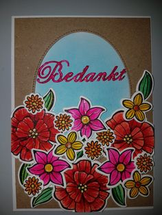 Stampin up may flowers