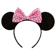 Disney Pink Bow Minnie Mouse Ears Headband for Girls | Disney StorePink Bow Minnie Mouse Ears Headband for Girls - Show off your inner Minnie with this super cute Pink Bow Minnie Mouse Ears Headband for Girls. The front side of Minnie's ears sparkle while the backs are a soft velvet and they're topped by a satin bow with a heart-shaped jewel for added glamour.