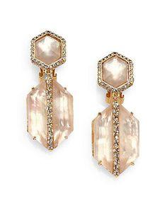 Alexis Bittar's mother-of-pearl drop earrings