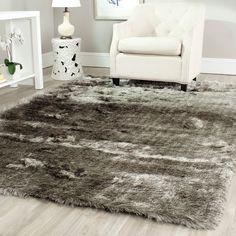Silken Silver Shag Rug (8' x 10') | Overstock™ Shopping - Great Deals on Safavieh 7x9 - 10x14 Rugs