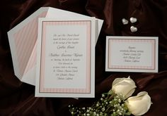 Striped Pastel Wedding Invitation #2015WeddingInvitationTrends #2015WeddingTrends