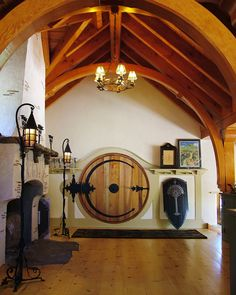 Hobbit House, Chester County, PA.  The interior incorporates many features of the craftsman home but also Tudor, Storybook, and Art Nouveau influences.