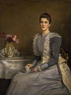 Portrait of Mary Endicott, Mrs Joseph Chamberlain By John Everett Millais, 1890-91