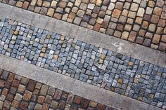 Stock image of 'Bicycle path from a stone blocks' Landscape Plaza, Urban Landscape, Landscape Design, Urban Architecture, Architecture Details, Pavement Design, Paving Pattern, Paving Design, Paving Ideas