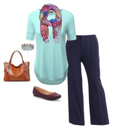 """""""Plus Size Outfit"""" by jmc6115 on Polyvore featuring Sag Harbor and Lilly Pulitzer"""