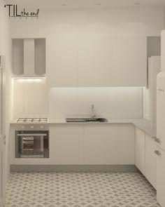 Apartment in belém cozinhas escandinavas por lagom studio escandinavo azulejo Micro Apartment, Alcove, Kitchen Cabinets, Bathtub, Studio, Bathroom, Home Decor, Apartments, Scandinavian Kitchen