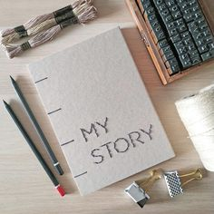 My Story notes eko 100 kartek gładkich - Rękodzieła i Handmade od Mayuki The 100, Notebook, Notes, Handmade, Paper, Hand Made, Notebooks, Craft, The Notebook