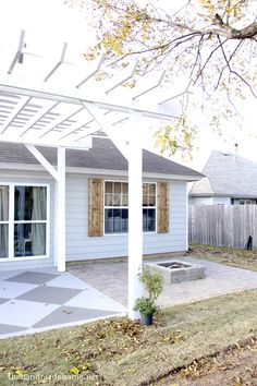 Simple pergola over a driveway google search pergolas pinterest carport plans driveways - How to build a pergola over a concrete patio ...
