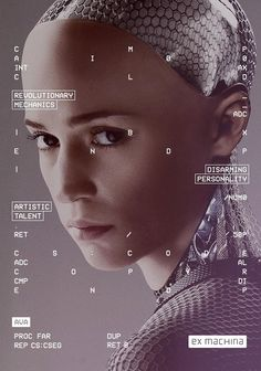 Ex Machina (2015) - enjoy the  holographic, abstract type as a design element