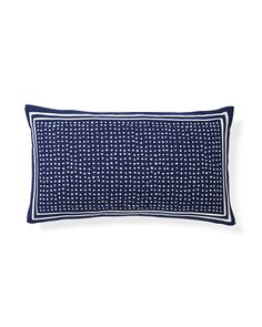 "Dot Outdoor Pillow Cover, 100% polyester basketweave, resists water, fading and stains, insert sold separately, 12""x21"", $47.60 on sale"