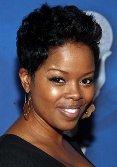 Image Black Women Short Hairstyles.Fashionsuweek.Com Short Black Hairstyles, Short Curly Hair, Short Hair Cuts, Cool Hairstyles, Short Afro, Pixie Cuts, Short Pixie, Short Hair Styles For Round Faces, Short Styles