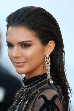 Kendall Jenner's Slicked Back Shine