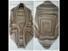 crochet en español chaqueta granny square principiantes - YouTube