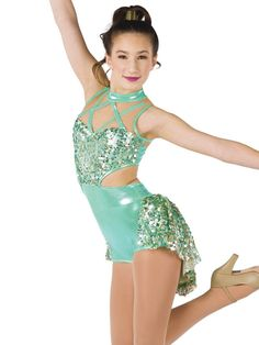 Foil printed spandex short unitard with gold glitter mesh insert and sequin on mesh overlay and attached skirt. All About Dance, Jazz Dance Costumes, Salsa Dress, Tribal Belly Dance, Ballroom Dance Dresses, Salsa Dancing, Spandex Shorts, Dance Leotards, Recital