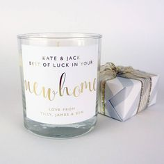 Are you interested in our new home gift? With our personalised candle you need look no further.