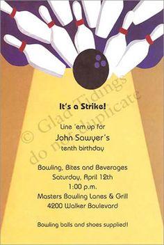 D E Ac A Birthday Party Invitations Parties Jpg 236x352 Bowling Invitation Wording Ideas