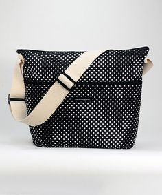 Look what I found on #zulily! Black Swiss Dot Diaper Bag #zulilyfinds