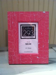 4 x 6 Custom Picture Frame  Red Faux Cracked Peeling by Gallery293, $22.00