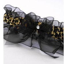 Gold Leopard Print Wedding Garter