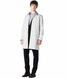 men's clothing · Mac coat · Oxford shirt · Jeans · White T-shirt · Chinos · Men's parka · White shirt · Cashmere jumper · Hoodie · A. Trench Coat Men, Tweed Coat, Mens Overcoat, Cashmere Jumper, Hooded Parka, Jean Shirts, Hoodies, Jackets, Clothes