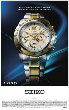 Tag Watches, Watches For Men, Watch Ad, Seiko, Typo, Lord, Layout, Graphics, Ads