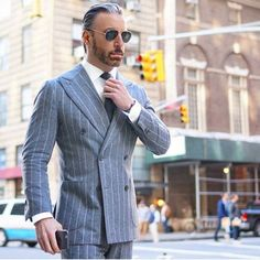 Be bold! Wear a double breasted pin-striped suit this summer!