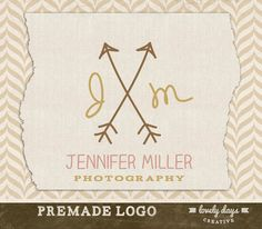 Photography Logo and Watermark Pre Made Custom Colors. $20.00, via Etsy. Watermark Ideas, Jennifer Miller, Photography Logos, Unique Jewelry, Creative, Colors, Handmade Gifts, Etsy, Design