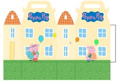 Peppa Pig House Favor Box Read Description Before Ordering 1st Birthdays, 3rd Birthday Parties, 2nd Birthday, Mini Snickers, Peppa Pig House, Peppa Pig Party Supplies, Cumple Peppa Pig, Party Favors, Pig Birthday Cakes