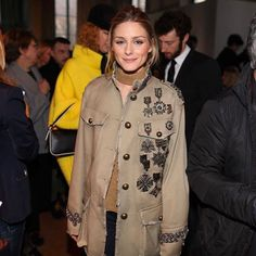 Olivia Palermo attends the Alberta Ferretti Fall 2017 show during Milan Fashion Week Fall/Winter 2017/18 on February 22, 2017 in Milan, Italy. #MFW #FW17