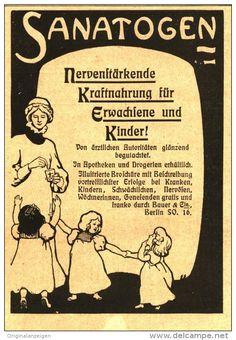 Original-Werbung/Inserat/ Anzeige 1902 : SANATOGEN - ca. 85 X 130 mm