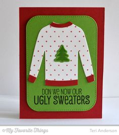 Cozy Greetings, Swiss Dots Background, Comfy Sweater Die-namics, Stitched Rounded Rectangle STAX Die-namics - Teri Anderson #mftstamps
