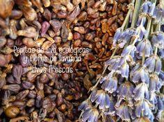 Las pepitas de uva y la flor de lavanda, uno de los secretos de Uvas Frescas.