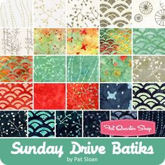 Sunday Drive Batiks Jelly Roll Pat Sloan for Moda Fabrics | Fat Quarter Shop