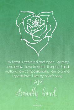 Heart Chakra Affirmation by CarlyMarie