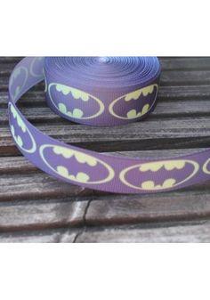 Batman grosgrain 25mm wide ribbon ADORABLE