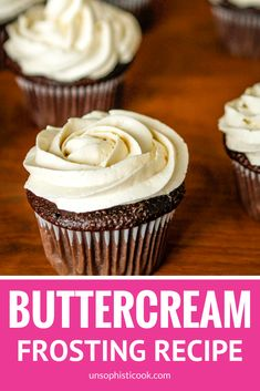 Best Buttercream Frosting Recipe -- super creamy and fluffy, not too sweet, this is quite possibly the BEST buttercream frosting recipe ever... A must try! | vanilla buttercream frosting | homemade buttercream frosting | whipped cream frosting recipe | powdered sugar icing recipe | fluffy buttercream frosting | find the recipe on unsophisticook.com #buttercream #buttercreamfrosting #bestbuttercream #unsophisticook