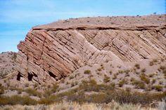 unconformity | Unconformity between Popotosa Formation playa deposits and post-Santa ...