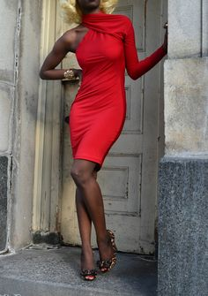 Asymmetrical Jersey Dress. $140.00, via Etsy.