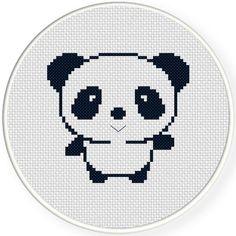 FREE for July 4th 2015 Only - Cutey Panda Cross Stitch Pattern