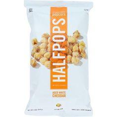 Halfpops Popcorn - Aged White Cheddar - 6 Oz - Case Of 12