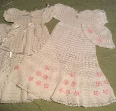 Flower Petal Crochet Baby christening outfit pattern for  ages 3- 12 months / Awwwwwww!