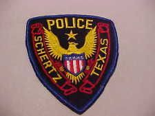 SCHERTZ TEXAS POLICE PATCH
