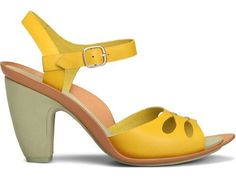 Olivia comes as a yellow sandal made of full grain leather. It features an ABS heel lined with EVA that provides lightweight and cushioning. The EVA insole also provides cushioning and its moulded leather shapes to your feet. The heel measures 9 cms.
