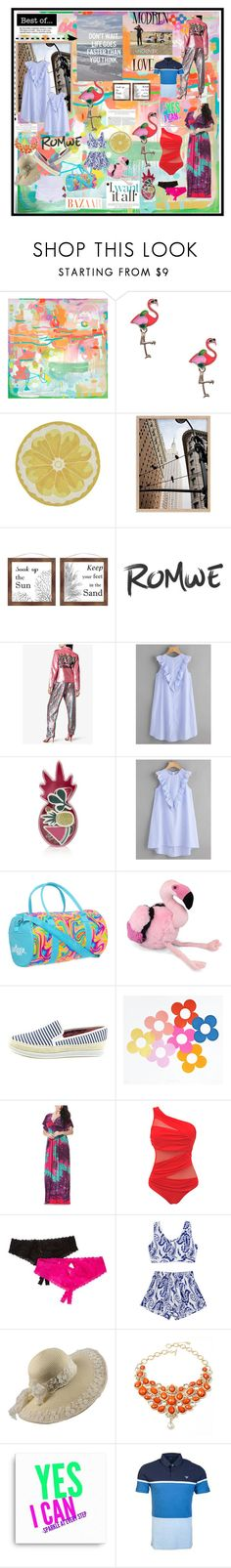 """""""WIN $ 30 COUPON - ROMWE"""" by carriearmstrong269 ❤ liked on Polyvore featuring PTM Images, Ashish, UNEARTHED, Chinese Laundry, Hanky Panky, Amrita Singh, Giorgio Armani and plus size clothing"""