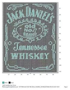 Sewing Logo Wall Hangings Ideas For 2019 Cross Stitch Quotes, Cross Stitch Kits, Cross Stitch Patterns, Plastic Canvas Crafts, Plastic Canvas Patterns, Jack Daniels, Cross Stitching, Cross Stitch Embroidery, Graph Paper Art