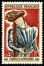 Charles d´Orleans 1391-1465 - Timbre de 1965