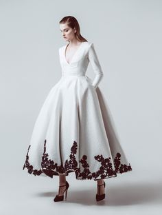 Gown by Isabel Zapardiez Bridal / Coffee Tea or Me Tea Length Dresses, Ball Gown Dresses, Prom Dresses, Dresses With Sleeves, Wedding Dresses, Iconic Dresses, Elegant Dresses, Pretty Dresses, Beautiful Gowns