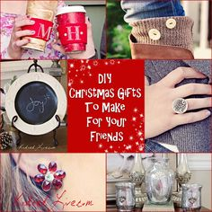 DIY Christmas Gifts you can make for your friends.
