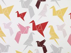 Origami wallpaper by Ingvi and Tinna at Dottir & Sonur -- not just for kids, is pretty versatile!