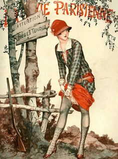 Illustration by Cheri Herouard  For La Vie Parisienne  October 1926